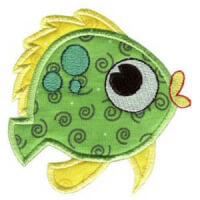Matriz de bordado peixe 23 (aplique)