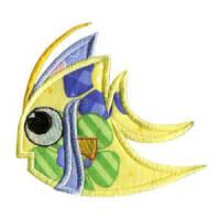 Matriz de bordado peixe 24 (aplique)