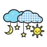 Matriz de bordado Nuvens (aplique) 1