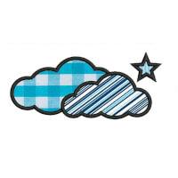 Matriz de bordado Nuvem (aplique) 1