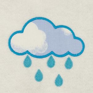 Matriz de bordado Nuvem (aplique) 2