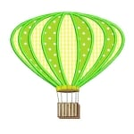 Matriz de bordado Balão (aplique) 1