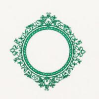 Matriz de bordado Moldura Monograma 97