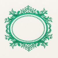 Matriz de bordado Moldura Monograma 104