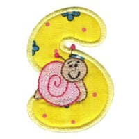 Matriz de bordado Monograma aplique infantil letra S