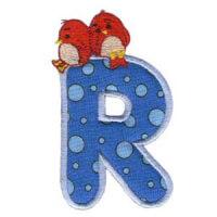 Matriz de bordado Monograma aplique infantil letra R