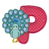 Matriz de bordado Monograma aplique infantil letra P