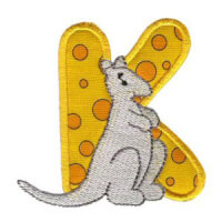 Matriz de bordado Monograma aplique infantil letra K