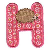 Matriz de bordado Monograma aplique infantil letra H
