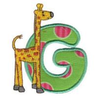Matriz de bordado Monograma aplique infantil letra G