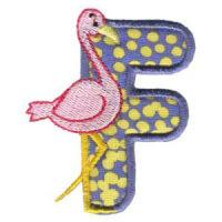 Matriz de bordado Monograma aplique infantil letra F