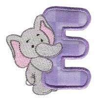 Matriz de bordado Monograma aplique infantil letra E