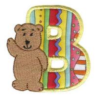 Matriz de bordado Monograma aplique infantil letra B