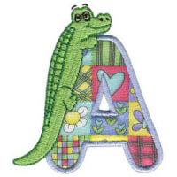 Matriz de bordado Monograma aplique infantil letra A