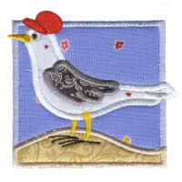 Matriz de bordado gaivota 01 (aplique)