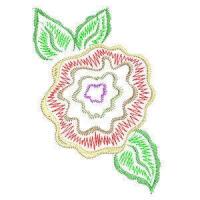 Matriz de bordado floral 04