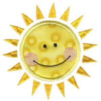 Matriz de bordado sol 11 (aplique)
