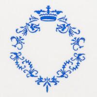 Matriz de bordado moldura monograma 148