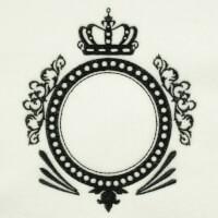 Matriz de bordado moldura monograma 150