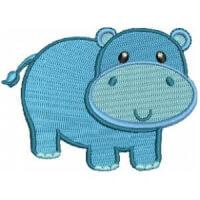 Matriz de bordado hipopótamo 9