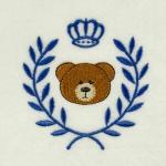 Matriz de bordado ursinho moldura 1