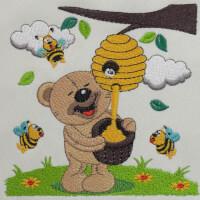 Matriz de bordado ursinho 227