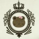 Matriz de bordado ursinho moldura 4