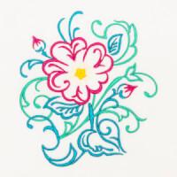 Matriz de bordado floral 383