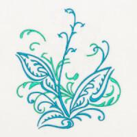 Matriz de bordado floral 387