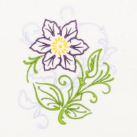Matriz de bordado floral 388