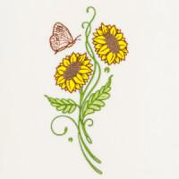 Matriz de bordado floral 390