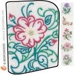 Matriz de bordado Pacote Bordados Florais 6