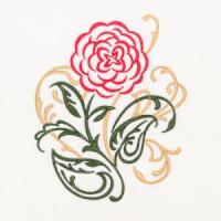 Matriz de bordado floral 393