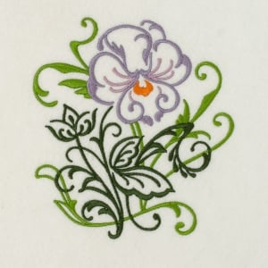 Matriz de bordado floral 394