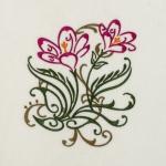 Matriz de bordado floral 395