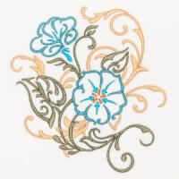 Matriz de bordado floral 397