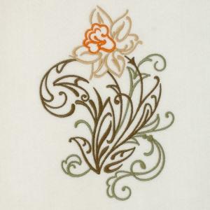Matriz de bordado floral 398