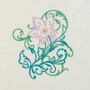 Matriz de bordado floral 399