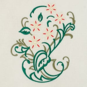Matriz de bordado floral 400