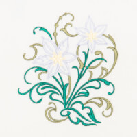 Matriz de bordado floral 401