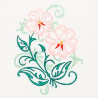 Matriz de bordado floral 402