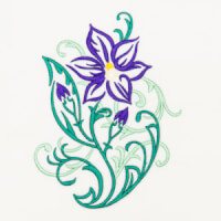 Matriz de bordado floral 403