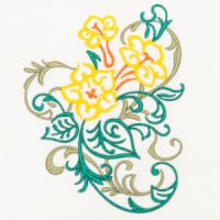 Matriz de bordado floral 405