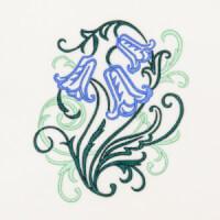 Matriz de bordado floral 406