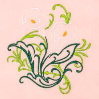 Matriz de bordado floral 412