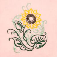 Matriz de bordado floral 414