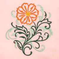 Matriz de bordado floral 415
