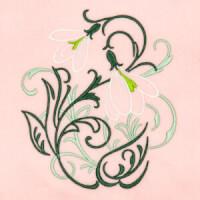 Matriz de bordado floral 416