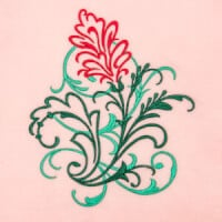 Matriz de bordado floral 417