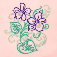 Matriz de bordado floral 418